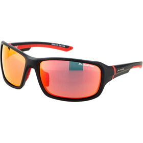 Alpina Lyron P Okulary, black matt-red/red mirror